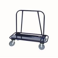 Jescraft WB-200PL-2R2S Drywall Cart - 12'' X 48'' Deck W Wrap Around Bumper 8'' Hpe Casters (2 Rigid2 Swivel)-1