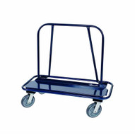 Jescraft WB-350PL-4S Drywall Cart - Wide Body Inset Bumper Cart With 8 Polyurethane Casters (4 Swivel)-1