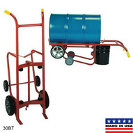 Wesco 240006 Standard Series Steel Drum Truck Polyolefin Wheels 1000 lbs Load Capacity 24 Width x 56 Height x 20 Depth-1