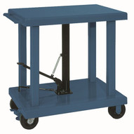 Wesco LT-20-3248 32 x 48 Medium Duty Table 6 Casters 2000 lb Capacity-1