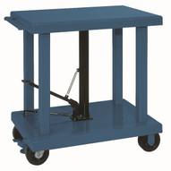 Wesco LT-60-3248 32 x 48 Heavy Duty Lift Table 6 Casters 6000 lb Capacity-1