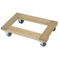 Wesco 272058 Flush Open Deck Wood Dolly With 3casters 30x18 Flush Open-1