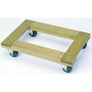 Wesco 272059 Flush Open Deck Wood Dolly With 3casters 36x24 Flush Open-1