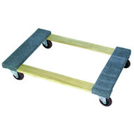 Wesco 272061 Open Deck Wood Dolly With Carpeted Ends With 3 Casters 36 X 24-1