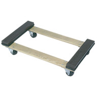 Wesco 272062 Open Deck Wood Dolly With Rubber Ends With 3 Casters 30 X 18-1
