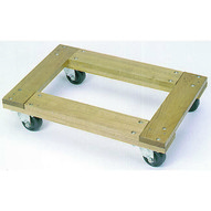 Wesco 272067 Flush Open Deck Wood Dolly With 4casters 24x16 Flush Open-1