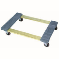Wesco 272070 Open Deck Wood Dolly With Carpeted Ends With 4 Casters 30 X 18-1