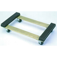 Wesco 272072 Open Deck Wood Dolly With Rubber Ends With 4 Casters 30 X 18-1