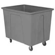 Wesco 124433GY 128 Gallon Grey Plastic Box Truck 600 Lbs Capacity With 8 Casters-1