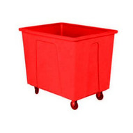 Wesco 224433RD 128 Gallon Red Plastic Box Truck With 8 Casters-1
