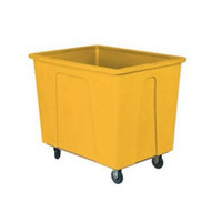 Wesco 224433YL 128 Gallon Yellow Plastic Box Truck With 8 Casters-1