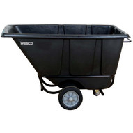 Wesco 272576 Black Tilt Cart Standard 1 2 Cubic Yard 850 Pound Capacity-1