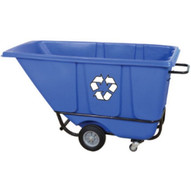 Wesco 272577 Blue Tilt Cart Standard Recycle 12 Cubic Yard 850 Pound Capacity-1