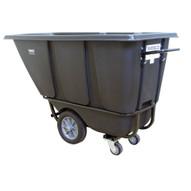 Wesco 272579 Black Tilt Cart Heavy Duty 12 Cubic Yard 1400 Pound Capacity-1