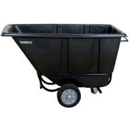 Wesco 272580 Black Tilt Cart Fork Lift Type 1 2 Cubic Yard 850 Pound Capacity-1