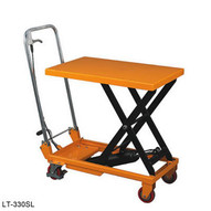 Wesco LT-660FHSL Folding Handle Scissors Lift Table 660 Pound Capacity-1