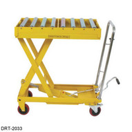 Wesco DRT-2033 Scissors Table With Roller Top 660 Pound Capacity-1