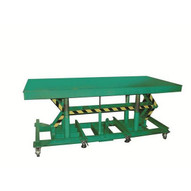Wesco STN-3608-3F Lexco Long-deck Foot-operated Hydraulic Lift Table 36 X 96-1