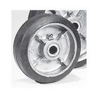 Wesco 50567 Aluminum Center Moldon Rubber Wheels-1
