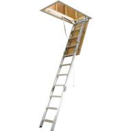 Werner AH2512 25in W X 66in L X 12ft H Ceiling Aluminum Attic Ladder 00