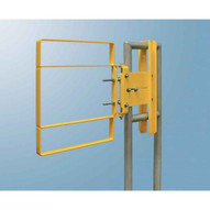 Fabenco XL82-33 Aluminum Clamp-on Self-closing Safety Gate Fits 34-36.5 Opening 22 Vertical Coverage-2