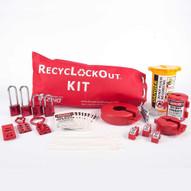 Zing 2724 Lockout Bag Kit With Aluminum Padlocks 35 Components-1