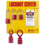 Zing 2726 Lockout Tagout Station 3 Aluminum Padlock-1