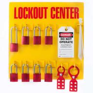 Zing 2727 Lockout Tagout Station 8 Aluminum Padlock-1