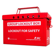 Zing 6061R Group Lockout Box (red)-2