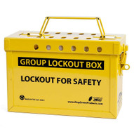 Zing 6061Y Group Lockout Box (yellow)-1