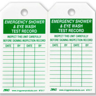 Zing 7017 Eco Safety Tag Emergency Eyewash And Shower Inspection 5.75hx3w 10 Pack-1