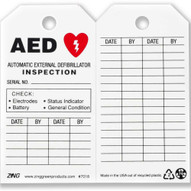 Zing 7018 Eco Safety Tag Aed Inspection 5.75hx3w 10 Pack-2