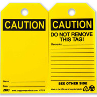 Zing 7019 Eco Safety Tag Caution Blank 5.75hx3w 10 Pack-2