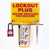 Zing 7117E Lockout Tagout Station Plug Lockout - Empty-1