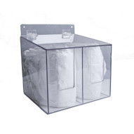 Zing 7307 Eco Sleeve Guard Dispenser Double Clear Plastic With Hinged Lid 12hx11.5wx10.5d-2