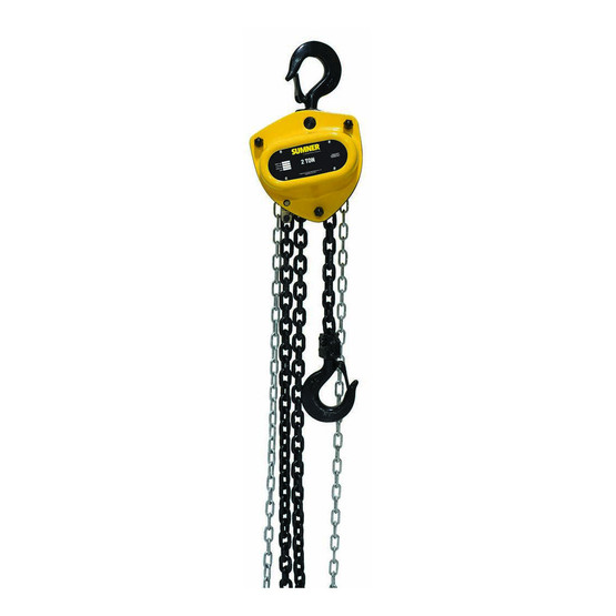 Sumner PCB200C30WO Premium 2 Ton Chain Hoist 30' Lift With Overload Protection-1