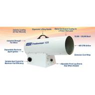 Lb White Tradesman 125 70000-125000 BTUH LPG Portable Forced Air Heater-1