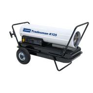 LB White Tradesman K125 125000 Btuh Kerosene # 1 Or # 2 Fuel Oil Forced Air Heater-1