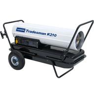 LB White Tradesman K210 210000 Btuh Kerosene # 1 Or # 2 Fuel Oil Forced Air Heater-1