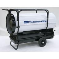 LB White Tradesman K650 650000 Btuh Kerosene # 1 Or # 2 Fuel Oil Forced Air Heater-1