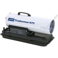 LB White Tradesman K75 75000 Btuh Kerosene # 1 Or # 2 Fuel Oil Forced Air Heater-1