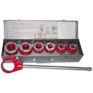 Rex Wheeler 4202 Manual Ratchet Threader Set with Complete with Tool Box for 1 2 � 1-1