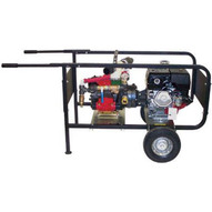 Wheeler Rex 468000 DIAPHRAGM PUMP 26 gpm 250 psi (90 lpm 17.5 bar) 8 hp. Honda engine-1