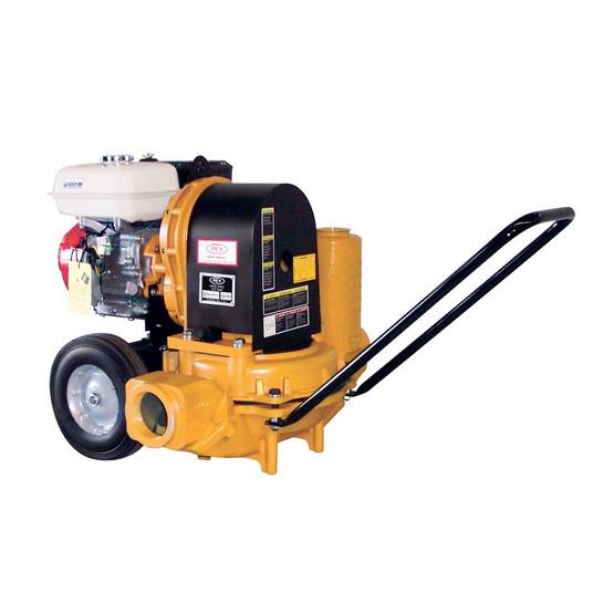 Wheeler Rex 563100 3 inch Mudsucker Trash Pump with 5.5 HP Honda Motor (for mud slurry sewage thick liquids)-1